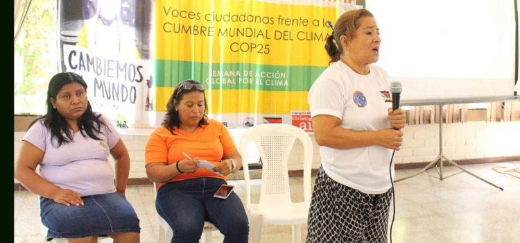 Voces Ciudadanas frente a la CUMBRE MUNDIAL DEL CLIMA COP25