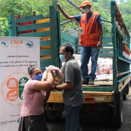 El segundo paquete de alimentos llega a las comunidades beneficiarias del proyecto«Respuesta a los efectos de la Sequía y las Inundaciones en América Central»