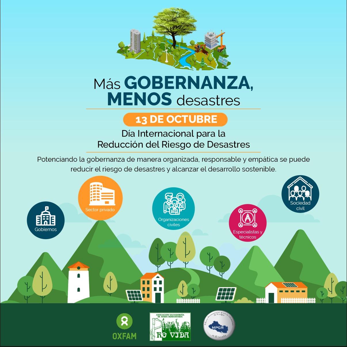 Más GOBERNANZA, MENOS desastres