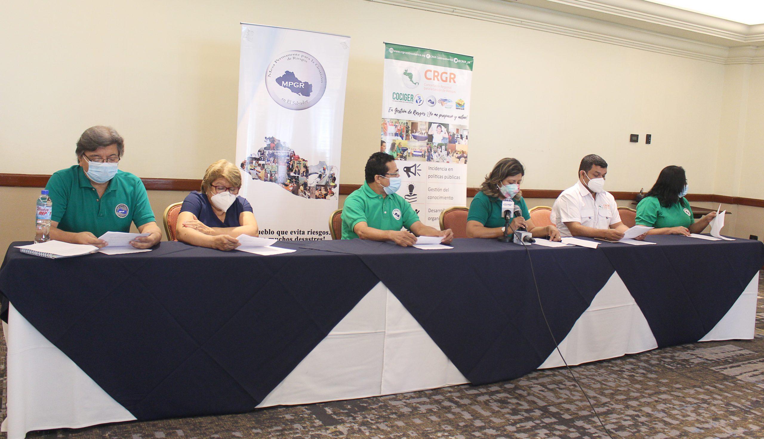 La MPGR y CRGR se  pronuncian en el marco del Día Internacional para la Reducción del Riesgo de Desastres